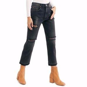 We The Free Lita Crop Straight Leg High Rise Jeans